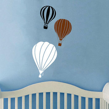 Housewares Hot air Balloons Wall Vinyl Decal Sticker Kids Nursery Baby Room Decor V284
