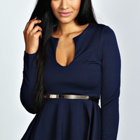 Mikayla Peplum Top With Belt
