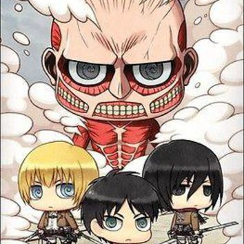 "Attack on Titan Chibi Group Anime Wall Poster Picture Art Print 22""x34"" LICENSED"