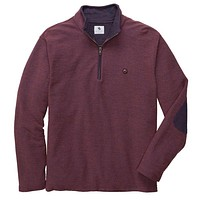 Nelson Quarter Zip Pullover in Rust Red by Southern Proper