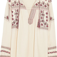 Étoile Isabel Marant - Vicky embroidered cotton-muslin top