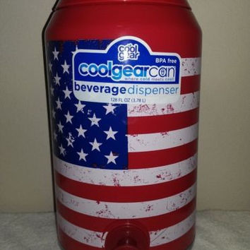 Cool Gear Can American Flag Beverage Dispenser