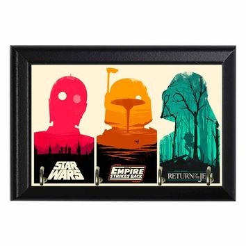 Star Wars Movies Geeky Wall Plaque Key Holder Hanger