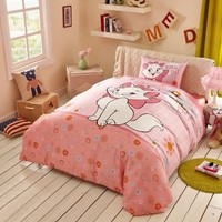 Cheerful Light Pink Marie Cat Bedding Set | EBeddingSets