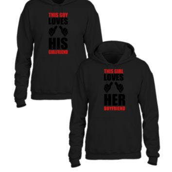 this guy loves His Girlfriend this girl loves Her Boyfriend couple hoodies