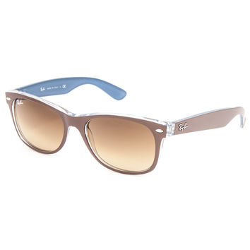 Ray-Ban New Wayfarer Color Mix Sunglasses Brown/Blue One Size For Men 27202493901