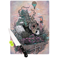 "Mat Miller ""Land of The Sleeping Giant"" Panda Cutting Board"