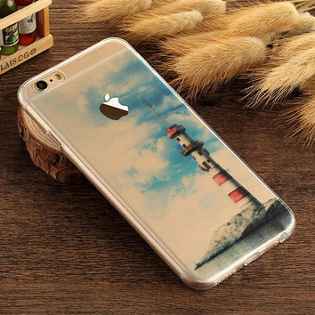 Lighthouse Case TPU Cover for iphone 7 7 Plus & iphone 6 6s Plus & iphone se 5s + Gift Box