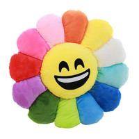 Hold Pillow Cushion Emoji Smiley Emoticon Sunflower Doll
