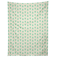 Allyson Johnson Minty Triangles Tapestry