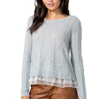 Claire Ruffled Sweater