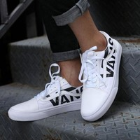 Best Online Sale Vans Old Skool Low White Sneakers Casual Shoes VN0A38G1QW8