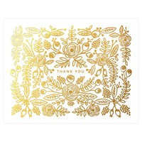 Rose Gold Floral Folded Thank You Cards Boxed