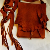 Rustic Leather iPad Sleeve Crossbody Bag - Handmade Crafts by LeatherCrafted
