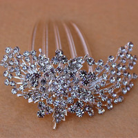 Beautiful shiny Wedding Bride  hair accessories Crystal Hair Comb Wedding Jewelry Rhinestone Tuck Comb  J15