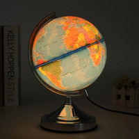 Blue Ocean World Earth Illuminated Globe Rotating Table Lamp Desk Reading Light Decoration Table Light Switch Night Light
