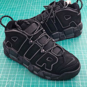 Nike Air More Uptempo Og Triple Black Sport Basketball Shoes - Best Online Sale