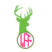 Antler and Monogram Decal Add Personality to Christmas Gifts, Great personal Gift, Gift Wrap Option, Personalize So Many Things