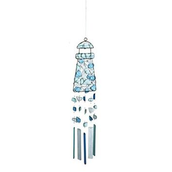 Peaceful Sea Glass Wind Chime (Lighthouse)