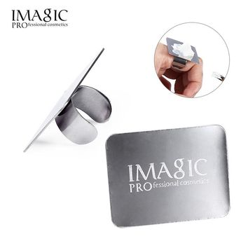 Stainless Steel Nail Art Makeup Palette Set Finger Plate Paint Pallete Mini Ring Make Up Tool Kit Mix Cosmetics Pigments