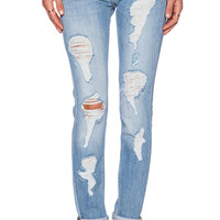 Etienne Marcel Distressed Boyfriend Jean in Stone