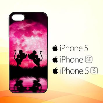 mickey minnie mouse silhouette W4418  iPhone 5|5S|SE Case