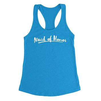 Maid of honor  hen party  gift ideas for her wedding and bridal party  Ladies  Racerback Tank Top