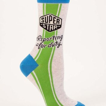 Superstar Reporting For Duty Women's Socks