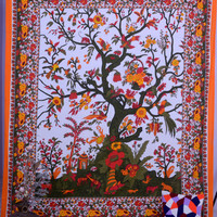 Tree Of Life Tapestry, Hippie Tapestries, Wall Tapestries, Tapestry Wall Hanging, Tapestries, Indian Tapestry, Bedspread, Bohemian Bedding