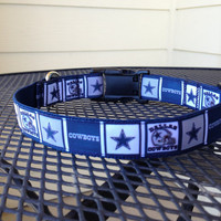 Dog Collar Made from Dallas Cowboys Ribbon by SweetKeeps on Etsy