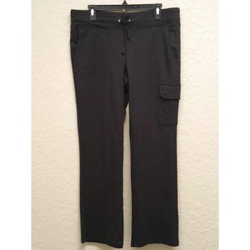 Lauren Ralph Lauren Petite Stretch Cargo Drawstring Pants Black PL