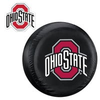 Ohio State Buckeyes NCAA Spare Tire Cover and Grille Logo Set (Large)