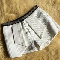 Channeling blair beaded shorts - white