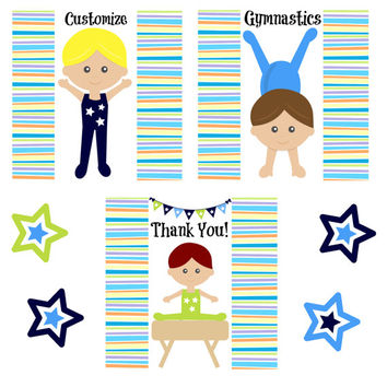 6 pc Gymnastics Boy Birthday Party Favors/Gymnastics/Party Favors/Boy Birthday Party/Lip balm/Chapstick Party Favor/Gymnastics Chapstick