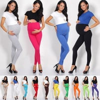 HOT DEAL ☼ Thick Heavy & Warm Maternity Cotton Leggings Ankle Length PREGNANCY_TQ = 1946799300