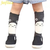 Toddler New Totoro Design Knee High Baby Socks Girls Boys Fall Winter Leg Warmers Fox Socks Knee Pad Meia