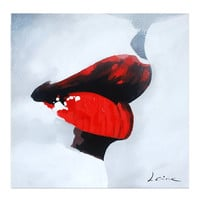 Kiss Me Oil Painting on Canvas - 100% Hand Made - Ready to Hang - Crafted by Talented Artist