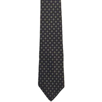 Classic Collection by Van Heusen Foulard Narrow Silk Tie - Blue