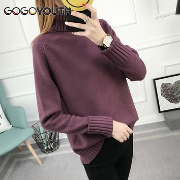 Gogoyouth Winter Sweater Women Turtleneck 2018 Long Sleeve Tricot Women Sweaters And Pullovers Female Knitted Jumper Jersey Tops