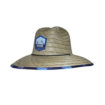 Rods Up Lifeguard Fishing Stretch Straw Hat
