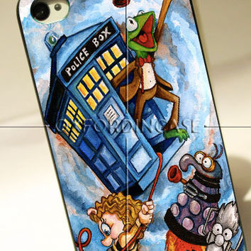 Cute Tardis Doctor Who Frog Police Box - for iPhone 4/4S case iPhone 5 case hard case hard cover