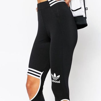 Hot Deal On Sale Adidas Originals Fashion Hollow Gym Yoga Running Leggings Sweatpants