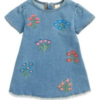 Tucker + Tate Embroidered Denim Dress (Baby Girls) | Nordstrom