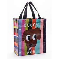 Doggy Handy Tote Bag in Colorful Stripes