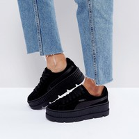 Puma X Fenty Suede Creepers In Black at asos.com