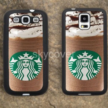 Gift Starbucks ice cream Coffee iPhone Hard soft case for samsung galaxy s2 s3 s4 s5 case note 2 3 case iphoen 4/4s 5 5s 5c case A7