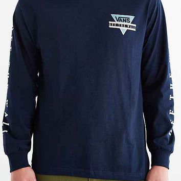 Vans Triangle Off The Wall Long-Sleeve Tee- Navy