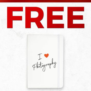 Christmas 2018 Free NOTEBOOK041 I Love Photography Notebook Gift With Purchase