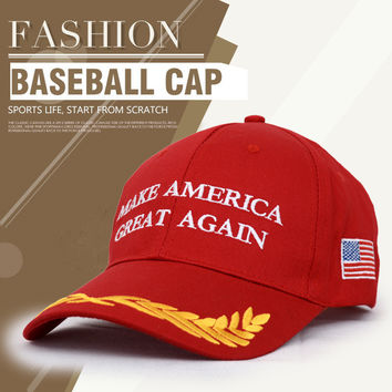 Outdoor Fashion 6 Panel Cotton Sport  Baseball Hats Cap For Women And Men Make America Great Again Caps Hats Mesh Trucker cap