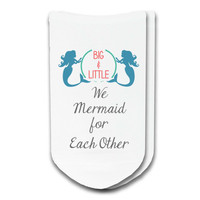 Mermaid for Each Other Big/Little Sorority No-Show Socks